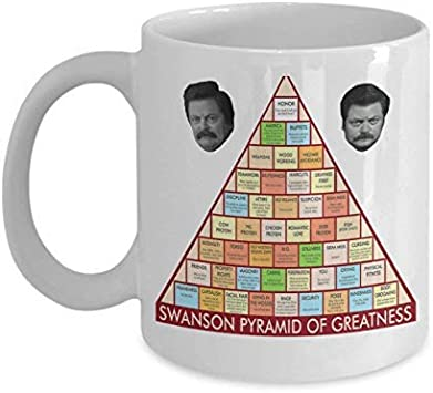 Parks and Recreation Ron Swanson Pyramid of Greatness - Taza ...
