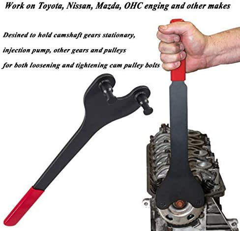 Universal Pulley Holder Wrench with Interchangeable Pins Tools Ratcheting Wrench Set Camshaft Reverse Wrench Set Nuolate2019 Automotive Tools