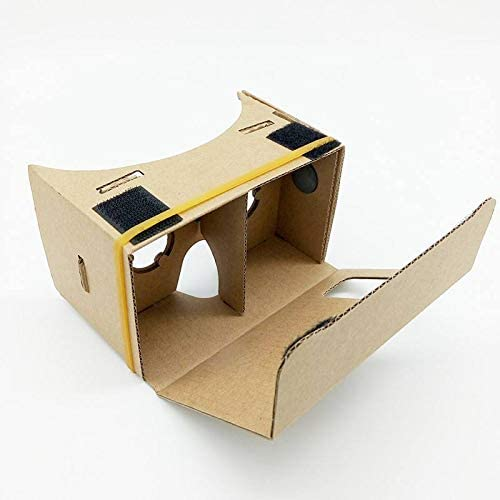 Google Cardboard,Virtual Real Store 3D VR Headsets DIY Virtual Reality Box Glasses with Clear Optical Lens and Comfortable Head Strap for All 4-6 Inch Smartphones(Starter DIY, 1 Pack) 41CWBnpsuSL