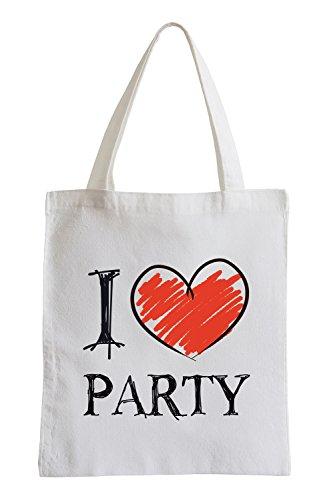 I love Party Fun Jutebeutel