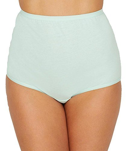 Vanity Fair Women's Perfectly Yours Tailored Cotton Brief Panty 15318, Hush, 3X-Large/10