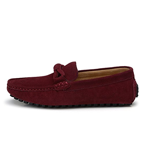 Vino Decoración EU Genuino Baja Color Suela on shoes Slip de Suave Mocasines Mocasines 42 Penny tamaño Mocasines de conducción Cordones Cuero con Meimei wS48HqB8
