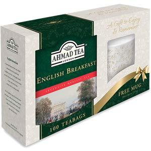 Ahmad English Breakfast 100 Tea Bags - Free Mug