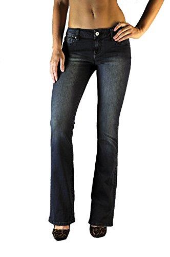 Standards & Practices Women's Stretch Denim Dark Blue Vintage Wash Bootcut Jeans Size 27 X 34Length (Wash Vintage Twill Jean)