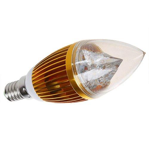 TheCoolCube 8W E14 4 LED Light Bulb Lamp 110-240V Warm White