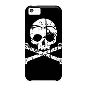 Excellent Design Pirate Skull Case Cover For Iphone 5c