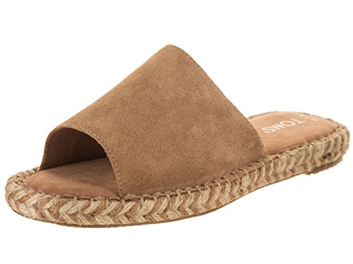 - TOMS Women's Clarita Suede Espadrille, Size: 8.5 B(M) US, Color Toffee Suede