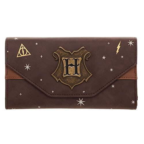 Harry Potter Hogwarts Crest Faux Leather Tri-Fold Wallet ()
