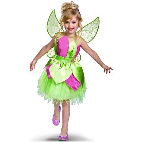 Is Tinkerbell A Disney Princess (Disney Fairies Tinker Bell Deluxe Girls Costume, 4-6X)