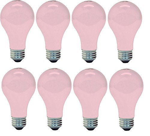 8 Ge Soft Pink 60w Light Bulb 60 97483 A19 Wedding Party Moo