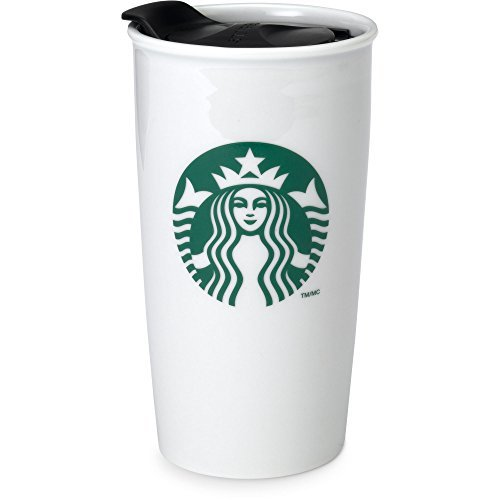 Starbucks Coffee Double Wall Ceramic Travel Mug Cup, 12 (Starbucks Travel Coffee Mugs)