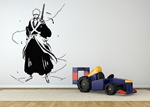 Wall-Room-Decor-Art-Vinyl-Sticker-Mural-Decal-Bleach-Ichigo-Samurai-Ninja-Cartoon-Anime-Manga-Hentai-Poster-Warrior-Popular-Boy-Girl-Bedroom-Nursery-Kids-AS2600