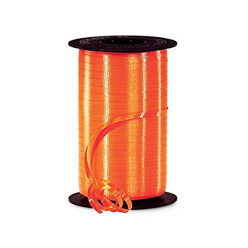 - Tropical Orange Curling Ribbon - 3/8in. x 250 Yards