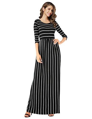 long black flared dress - 4
