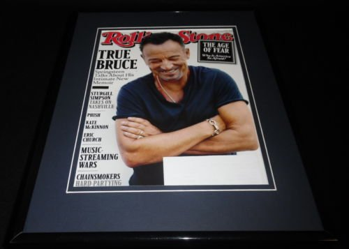 Bruce Springsteen Framed 11x14 ORIGINAL 2016 Rolling Stone Magazine Cover
