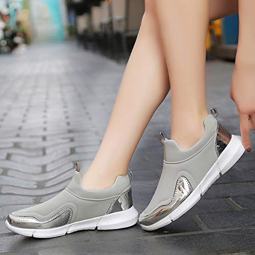 Scarpe Outdoor Sneakers Ihaza Mesh Runing Soft Sport Bottom Grigio Donne Casual XFTTwqaR