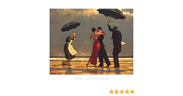 Jack Vettriano Poster Art Print The Singing Butler Overall Size 315x235 Image Size 2925x1975
