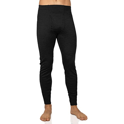 MERIWOOL Men's Merino Wool Midweight Baselayer Bottom - Choose Your Color & Size