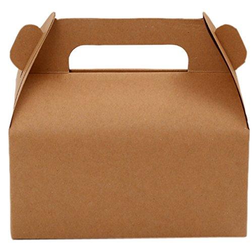 Lesirit Mini Kraft Gable Bakery Treat Boxes (20) -