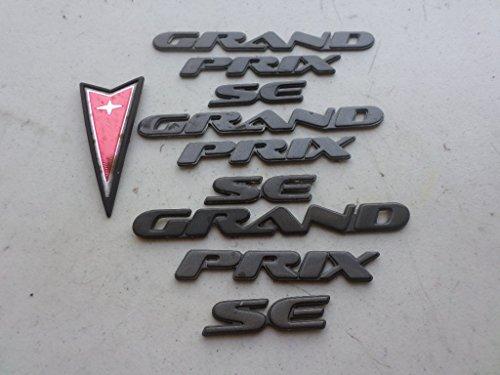 97-03 Pontiac Grand Prix Se Front Grille Arrowhead Shield Emblem Rear Trunk Grey Logo Nameplate Ornament Decorative Decal Set of 10
