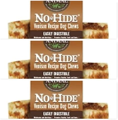 Earth Animal No Hide Rawhide Venison Dog Chews, Dog Treats. 7 Inch 3 Pack. The Safe Alternative to Rawhide.