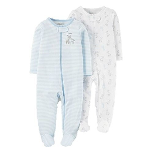 Carters Baby Boys 2 Pack Sleep and Play 3 Months Giraffe (Blue Giraffe Clothes)