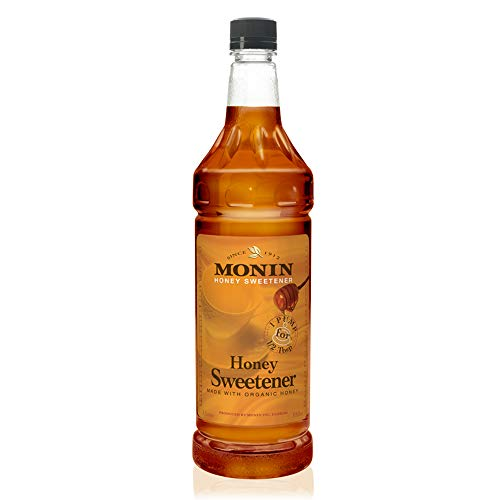 Monin - Honey Sweetener, Rich and Smooth, Great for Teas and Cocktails, Gluten-Free, Non-GMO (1 Liter) (Monin Sweetener)