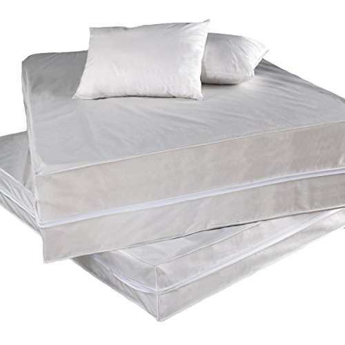 Permafresh Antibacterial 4-Piece Complete Bed Protector Set, Queen