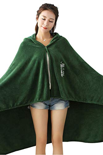 Obtai Halloween AOT The Wings of Freedom Flannel Cloak Blanket Cosplay Costume Cape (Large/160cm) Green -