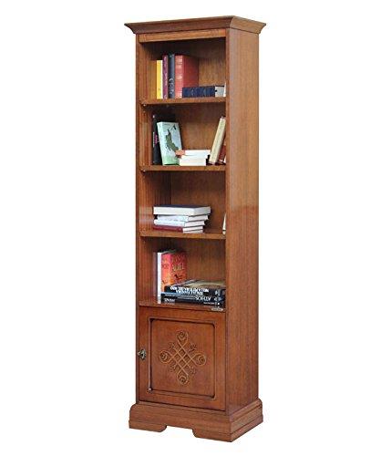 Arteferretto Libreria colonna alta, Struttura in legno, 1 porta/Vano ...