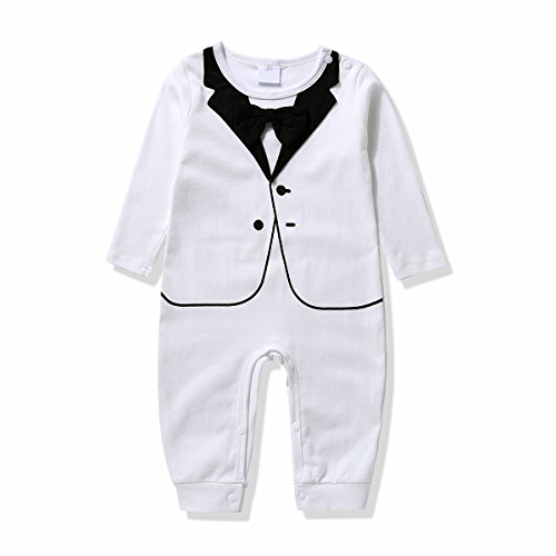 Gentleman Romper Bowtie Bodysuit Clothes product image