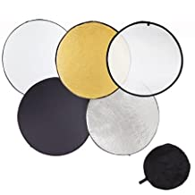 "CanadianStudio Photo Studio 32"" (80cm) Collapsible 5 in 1 Twist Reflector Multi Disc colors Photography Studio Photo Camera Lighting Reflector/Diffuser Kit with Carrying Case"
