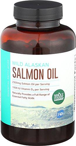 - Whole Foods Market, Wild Alaskan Salmon Oil, 180 ct