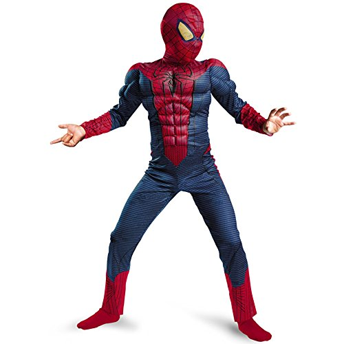 Besties shop Amazing Spiderman Marvel Movie Classic Muscle Child Boy Costume