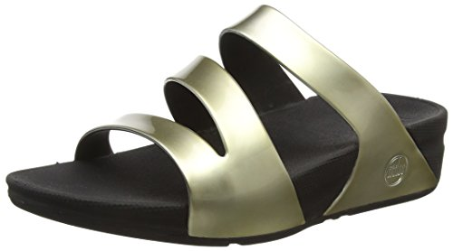 FitFlop Superjelly Twist, Sandales Femme Gold (Gold Mirror)