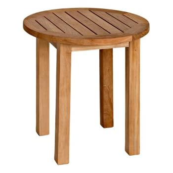 three birds casual canterbury 20 inch tall round side table teak - Tall Round Table