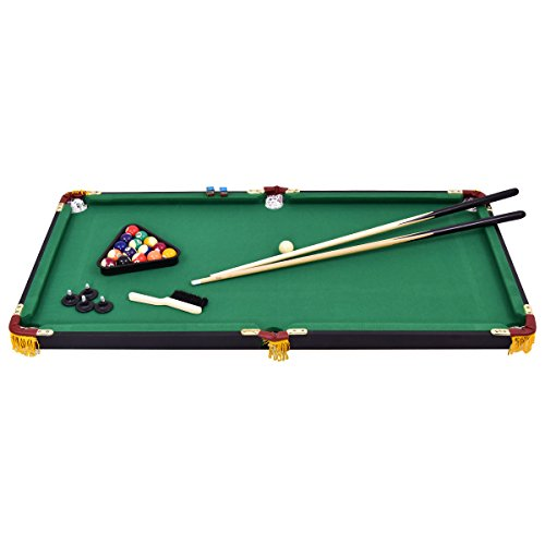 """Costzon 47"""" Folding Billiard Table, Pool Table With Cues"""