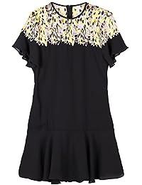 Rainstar Women's Plus Size Summer Dress Hollow Out Patchwork Lace Dress