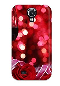 New Snap-on DPatrick Skin Case Cover Compatible With Galaxy S4- Wine And Roses