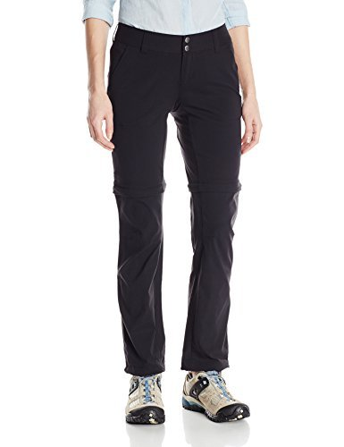 Columbia Women's Saturday Trail II Convertible Pant, Black, 10/Regular (2 Pack)