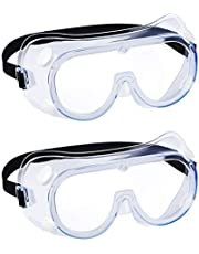 2 Pack Safety Goggles Over Glasses-Perfect for Industrial,Work,Construction,Shooting