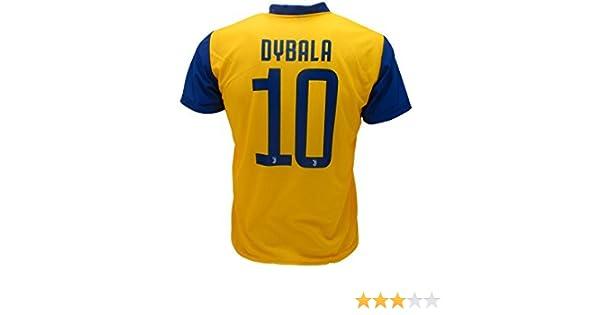 62e4475307daf Camiseta Jersey Futbol Segundo Amarillo Juventus Dybala 10 Replica  Autorizado 2017-2018 Niños Adultos  Amazon.es  Deportes y aire libre