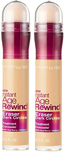 Maybelline Instant Age Rewind Eraser Dark Circles Treatment Concealer, Neutralizer, 2 COUNT