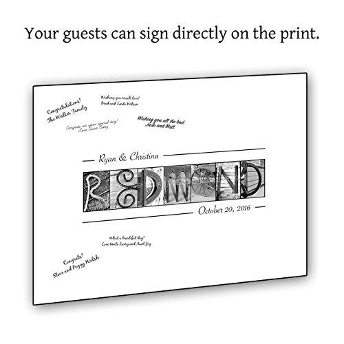 Wedding Guestbook Alternative - Personalized Wedding Guest Signing Print - 16x20 UNFRAMED by Kona B Designs
