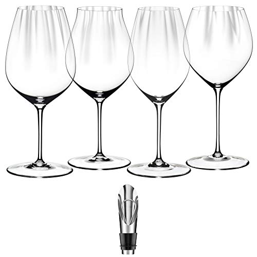 Riedel 5884/47-19 Performance Wine Glasses, Set of 4, Plus Wine Pourer with Stopper