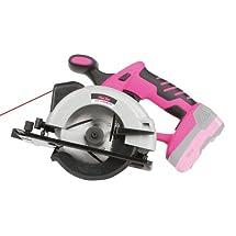 The Original Pink Box PB18VCIR Cordless 18-Volt Lithium-Ion Circular Saw, Pink