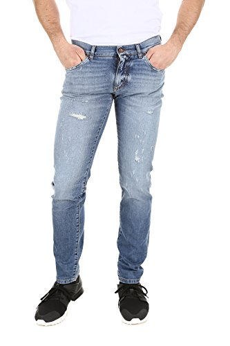 Dolce e Gabbana Men's Gy07ldg8x98s9001 Light Blue Cotton - Gabbana Dolce Jeans Men And For