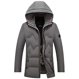 Amazon.com : ZIHENGUO Hooded Men's Down Jacket Winter