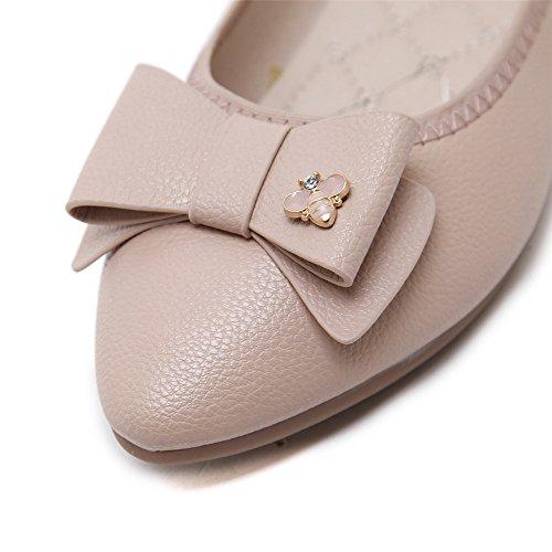 LIVY 2017 nueva perspectiva de diamantes arco hebillas de zapatos de los planos Blanco