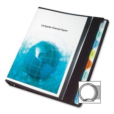 Wilson Jones View-Tab Round Ring Presentation Binder, 8-Tab Style, 1'' Capacity, White